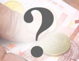 Geldschein mit Fragezeichen