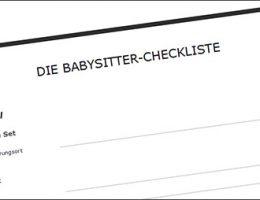 Die Checkliste für Babysitter
