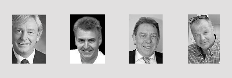 Bild zeigt die vier Gründungsgesellschafter von HalloBabysitter.de